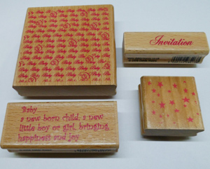 Rubber Stamp 3 inches x 3 inches