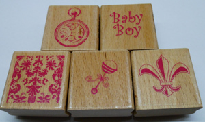Rubber Stamp 1.5 inches x 1.5 inches