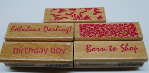 Rubber Stamp 2.5 inches x 0.75 inches